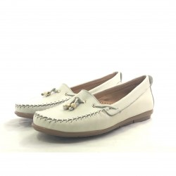 Mocasin Nudo Borlas Natural-9001