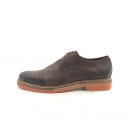 Zapato Acord Base Color Punta Partida Marron-potus