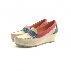 Mocasin Comb T/chino Vincha Are/rojo/azul-410