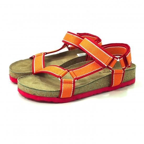 SANDALIA BASE MEDIA TIRA CENTRAL HUSH PUPPIES NARANJA-TEVAGROSS